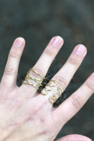 Padma Brass Cuff Ring