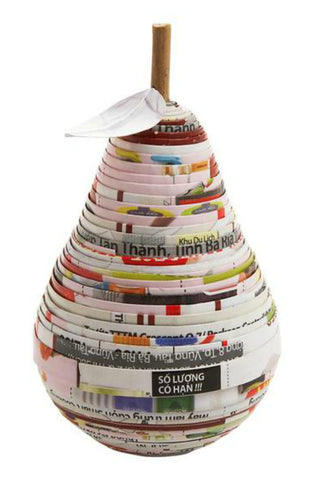 Recycled Magazine Pear Box