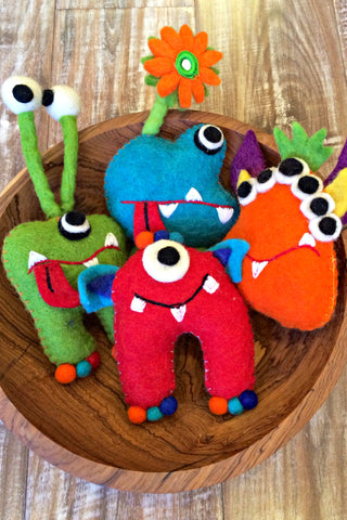 Felt Toothfairy Monsters