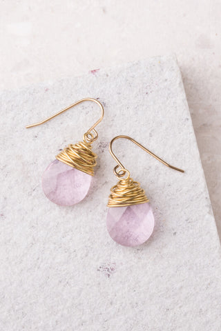 Blush Pink Crystal Earrings
