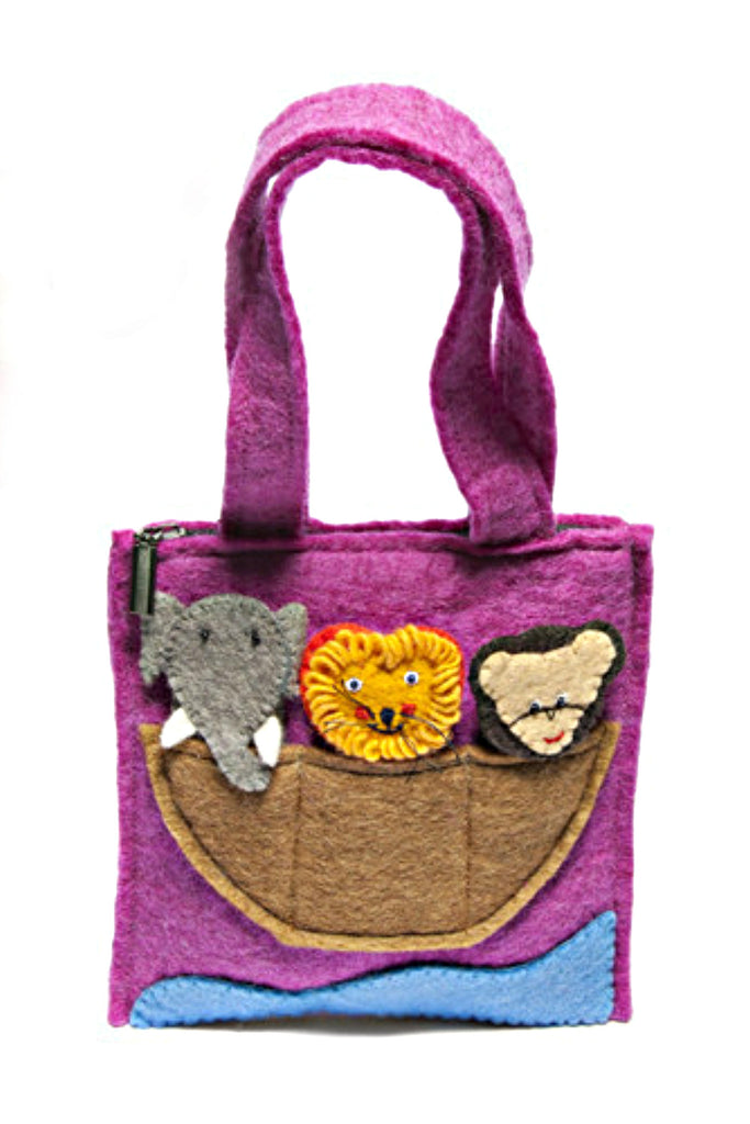 Finger Puppet Felted Kid's Purse