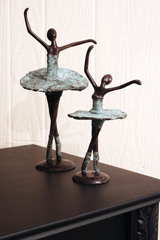 Burkina Faso Bronze Ballerina Sculpture
