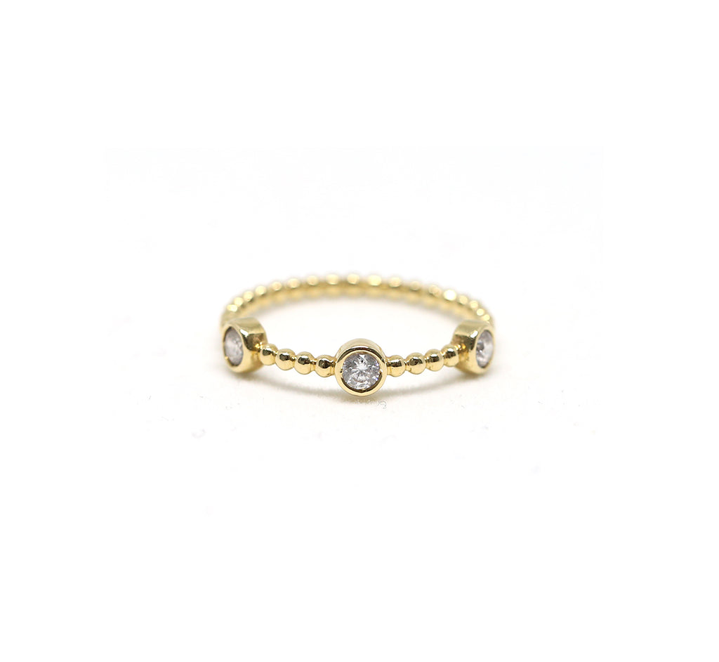 Diamond Trio Band Ring