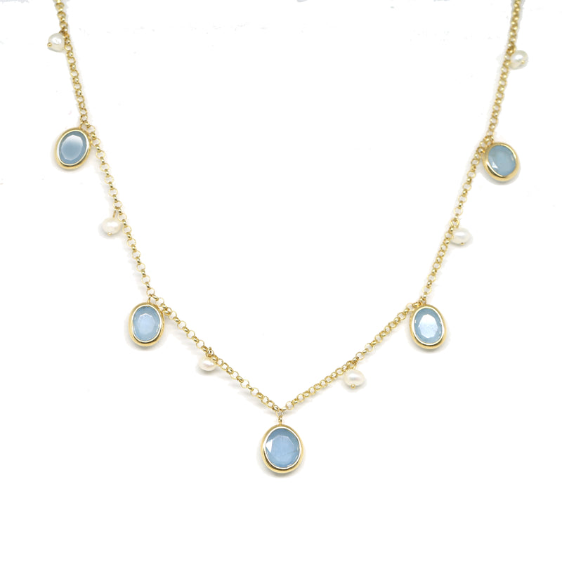 Aquamarine Charm Necklace