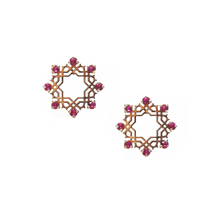 Rose Gold Arabesque Earrings