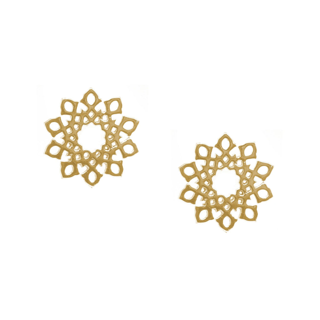 Gold Arabesque Earrings (18k)
