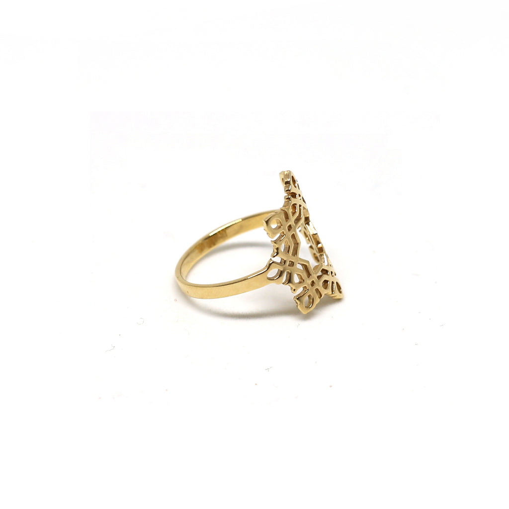 Star Arabesque Ring (18k)
