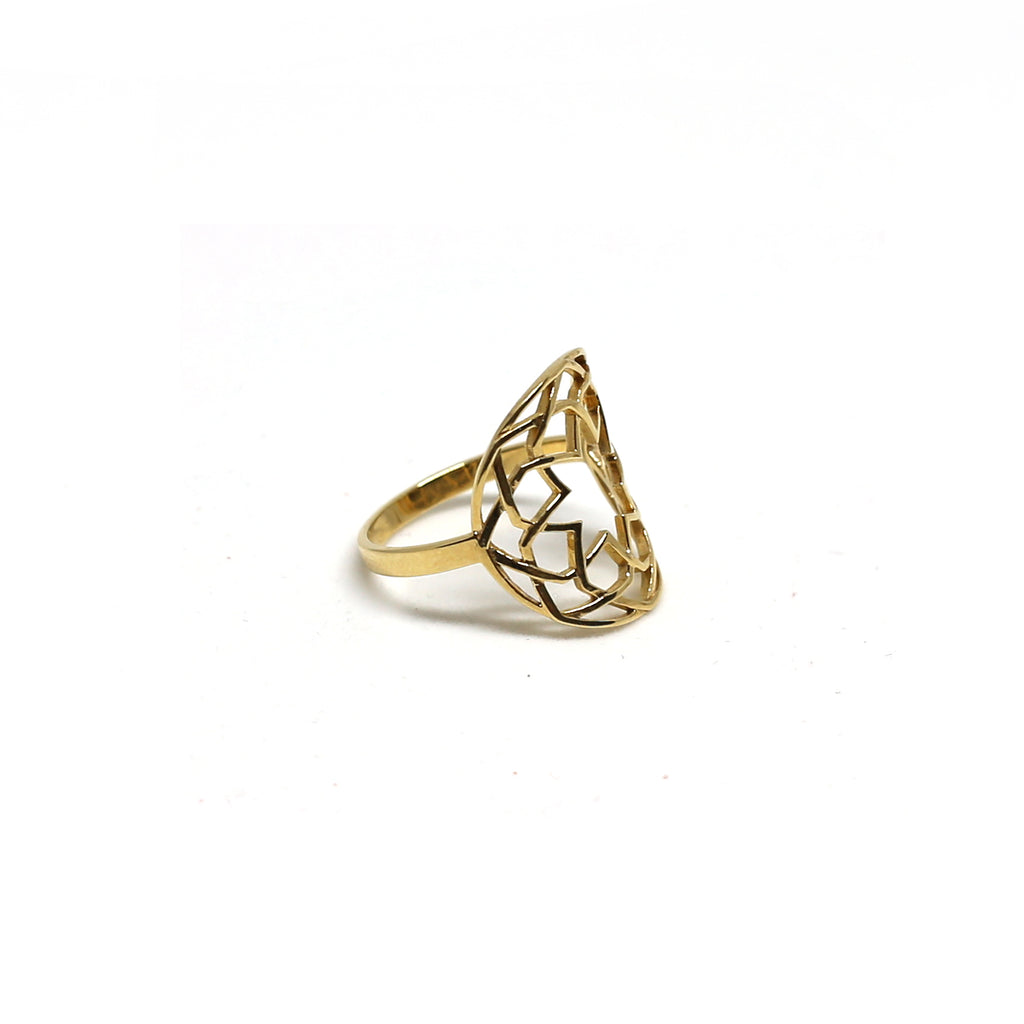 Round Arabesque Ring (18k)