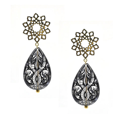Arabesque Pink Drop Earring