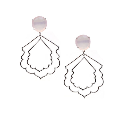 Pink Hydro Quartz Earrings