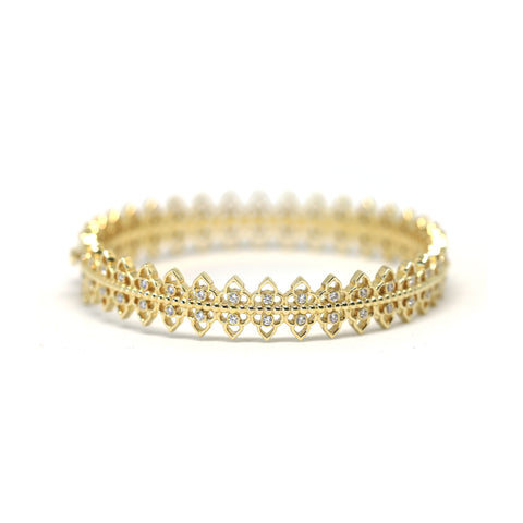 White Tristone Bangle