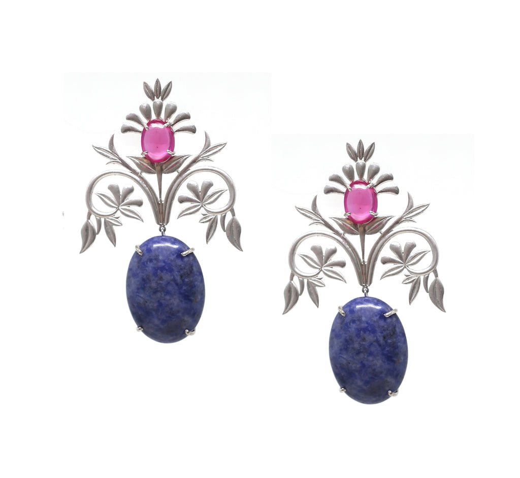 Pink Flora Earrings