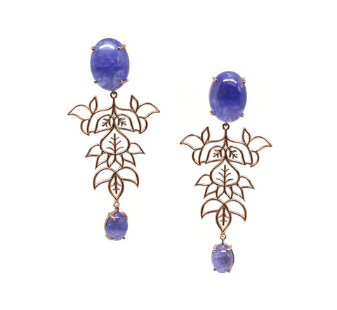 Blue Calcite Jaal Earrings