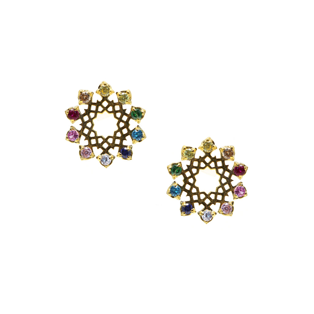Arabesque Rainbow Earrings