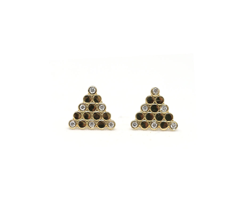 Triangular Diamond Studs