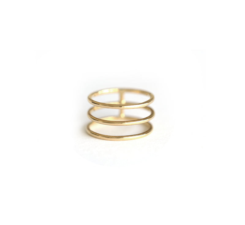 Triple Gold Band Ring