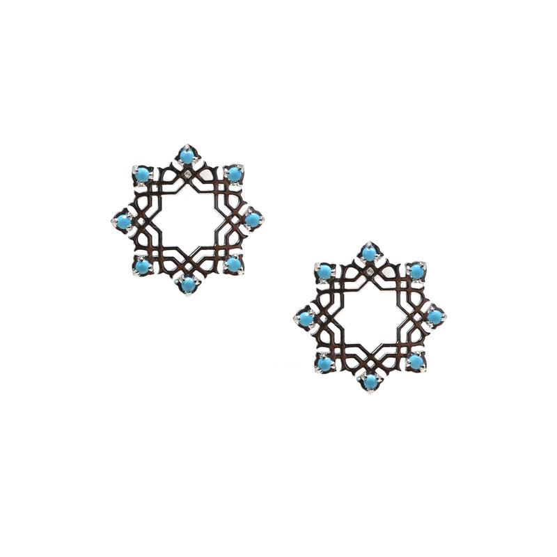 Arabesque Turquoise Earrings