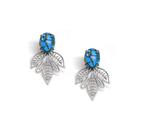 Turquoise Flora Earrings