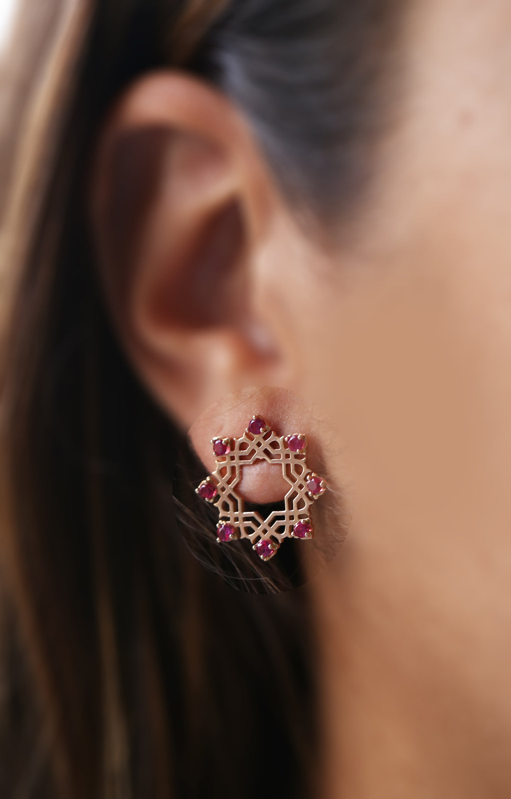 Star Arabesque Earrings (18k)