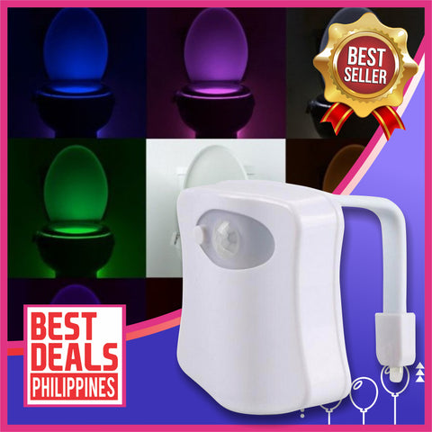(BUY 1 TAKE 1)  8 Colors Toilet Seat Automatic LED Lights - Human Motion Sensor