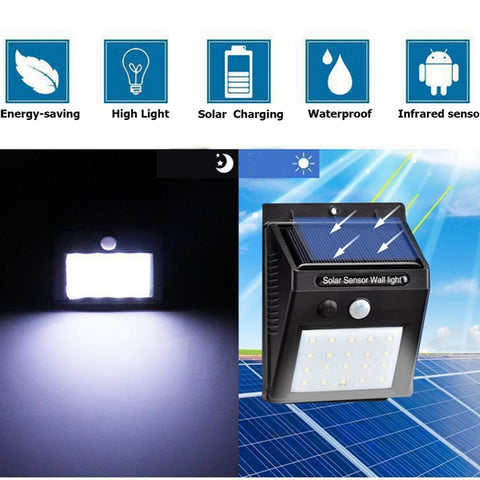 Image of (Buy 1 Take 1 Promo) Solar Powered 20-LED Wall Light with Motion Sensor