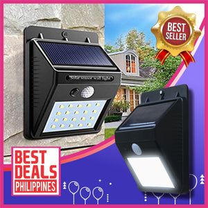 (Buy 1 Take 1 Promo) Solar Powered 20-LED Wall Light with Motion Sensor