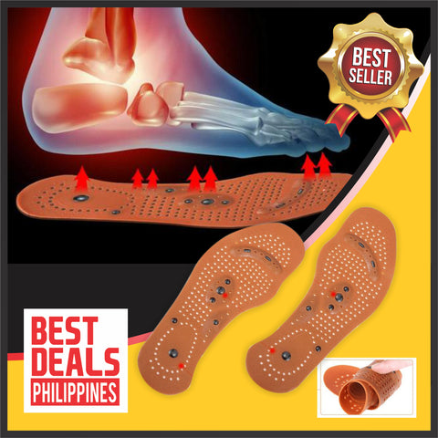(BUY 1 Pair & TAKE 2 Pairs Promo) Acupressure Healing Magnetic Insoles