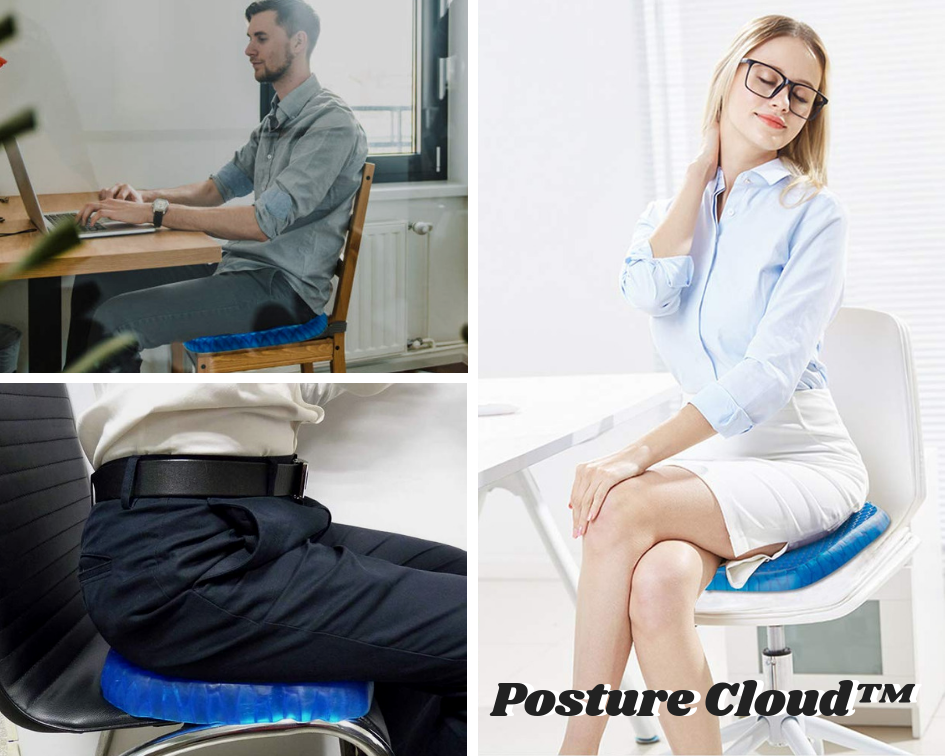 PostureCloud Spinal Alignment Comfort Cushion w/ Free Washable Cover
