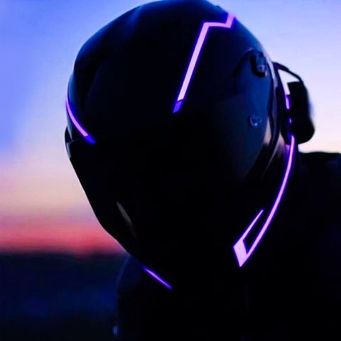 Image of Motorcycle Helmet Light Night Flashing Sticker