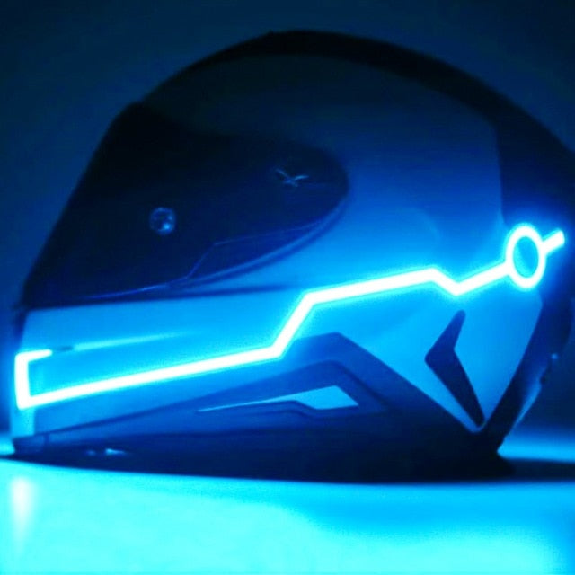Motorcycle Helmet Light Night Flashing Sticker