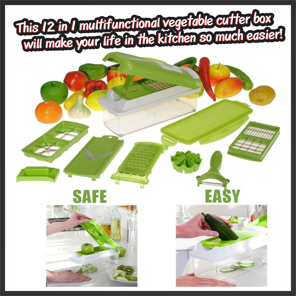 12 in 1 Premium Multifunctional Vegetable Slicer Box