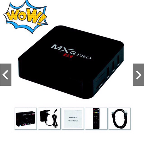 Image of New MXQ pro 4K Android Ultra HD TV Box