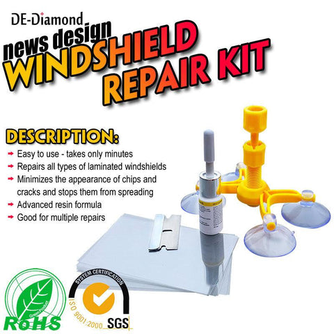 Image of Crack Glass Repair Kit for Cars, Cellphones, Windshields