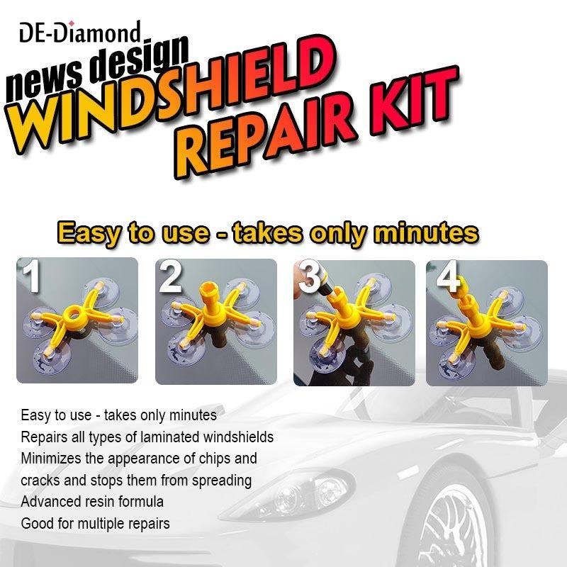 Crack Glass Repair Kit for Cars, Cellphones, Windshields