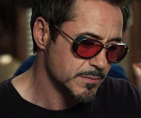 Iron Man Tony Stark Classic Steampunk Sunglasses with Free Protective Cas