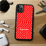 LOUIS VUITTON WALPAPER SUPREME RED IPHONE 11 | 11 PRO | 11 PRO MAX CASES