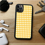 YELLOW PLAID CHANNEL IPHONE 11 | 11 PRO | 11 PRO MAX CASES