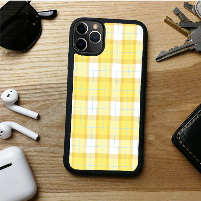 YELLOW PLAID PAPADE IPHONE 11 | 11 PRO | 11 PRO MAX CASES