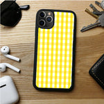 YELLOW PLAID SMALL SQUERE IPHONE 11 | 11 PRO | 11 PRO MAX CASES