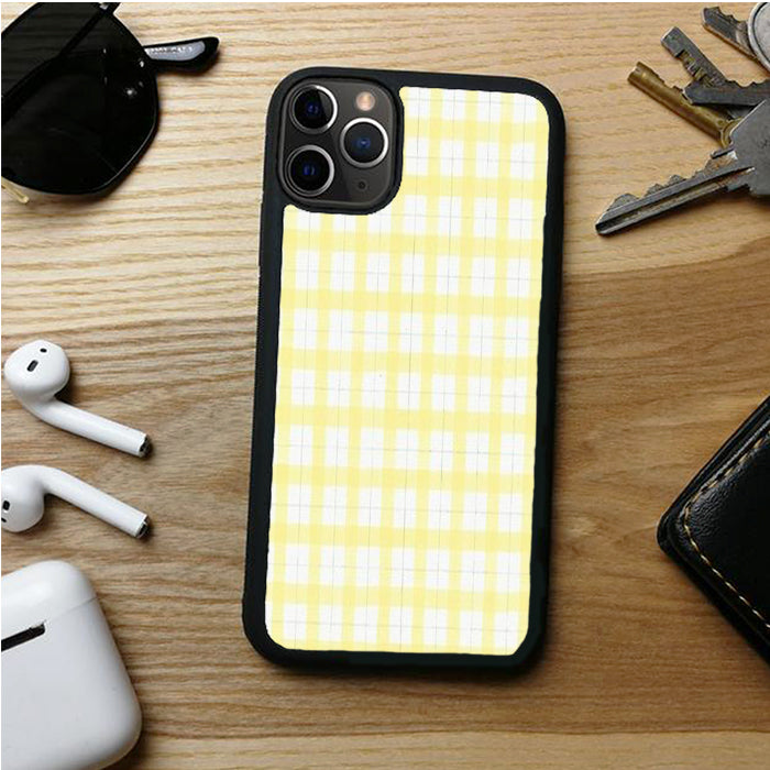YELLOW PLAID WHITE IPHONE 11 | 11 PRO | 11 PRO MAX CASES