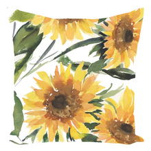 Load image into Gallery viewer, Sunflower Throw Pillow