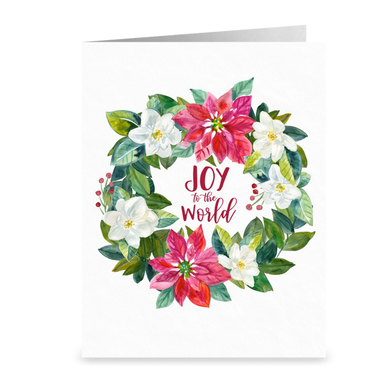 Joy to the World Wreath Greeting Card