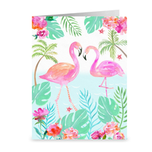 Load image into Gallery viewer, Flamingo Love Greeting Card