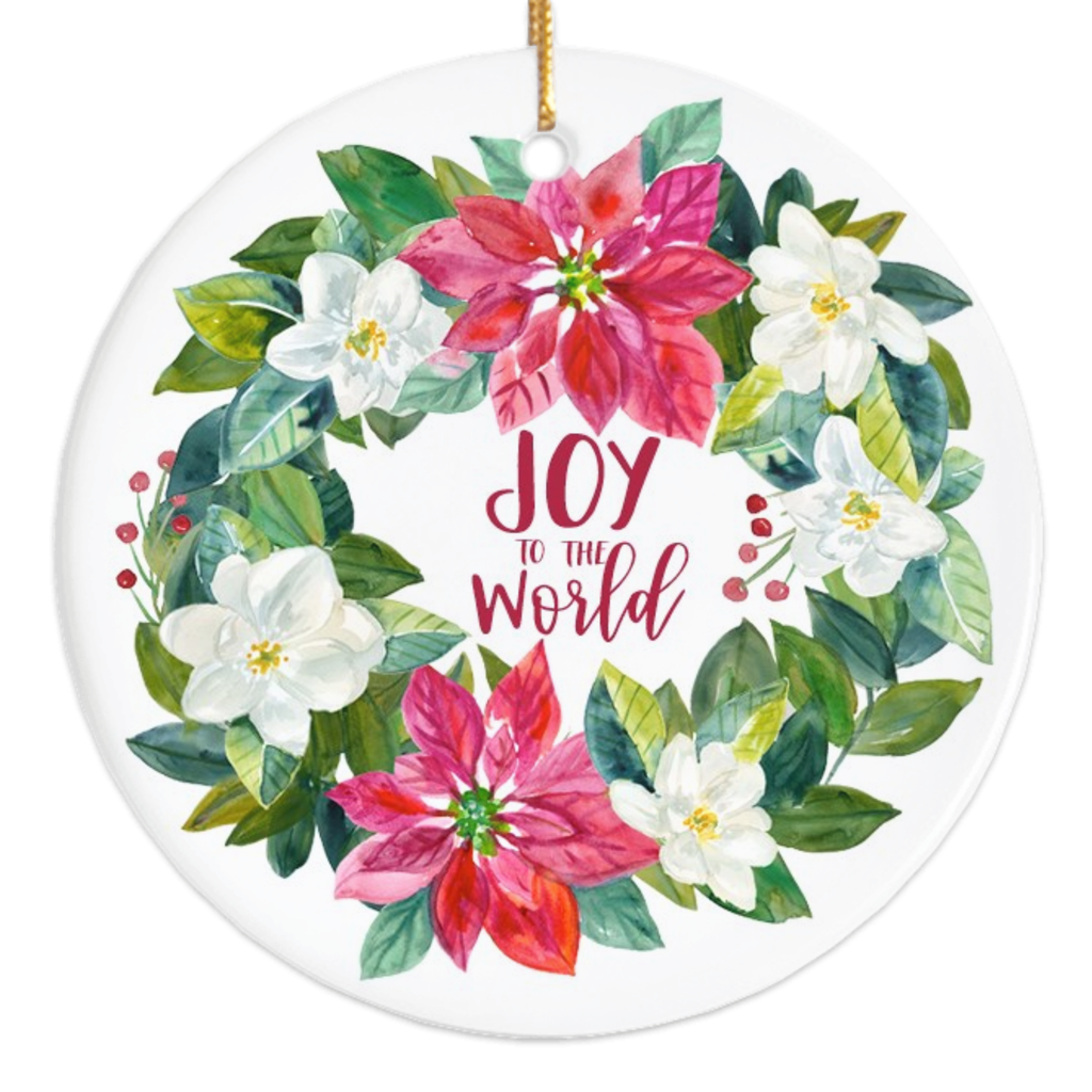 Joy to the World Porcelain Ornament