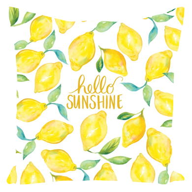 Hello Sunshine Lemons Pillow