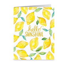 Load image into Gallery viewer, Hello Sunshine Lemons Greeting Card