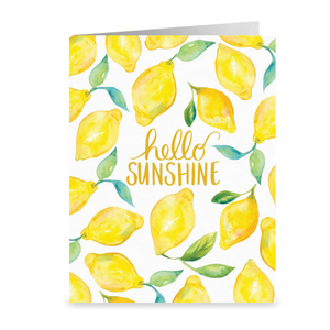 Hello Sunshine Lemons Greeting Card