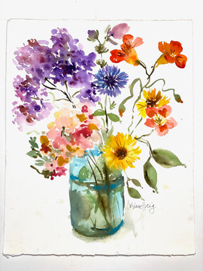 Original Watercolor: Wildflower Botanical #1