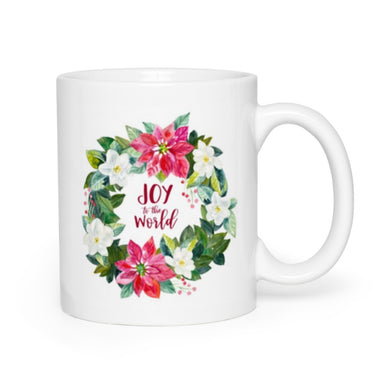 Joy to the World Wreath Mug