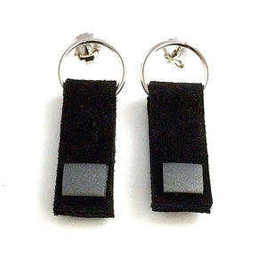 Boucles d'oreilles Rectangle de cuir